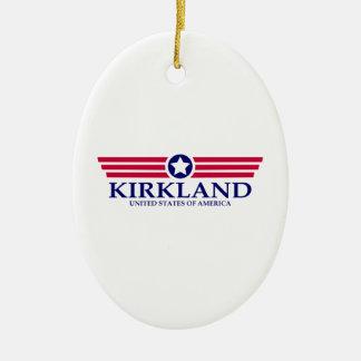 Orgullo de Kirkland Adorno Ovalado De Cerámica