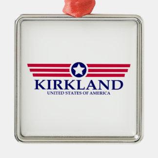 Orgullo de Kirkland Adorno Cuadrado Plateado