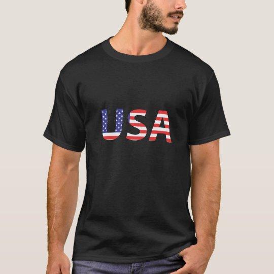 Orgullo de la bandera americana de los E.E.U.U. Camiseta