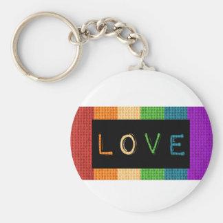 Orgullo de la etiqueta LBGT del amor y ayuda del Llavero Redondo Tipo Chapa
