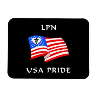 Orgullo de LPN los E.E.U.U. Imán Rectangular