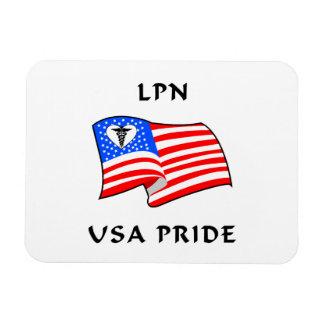 Orgullo de LPN los E.E.U.U. Imán De Vinilo