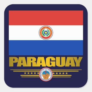 """Orgullo de Paraguay "" Pegatina Cuadrada"