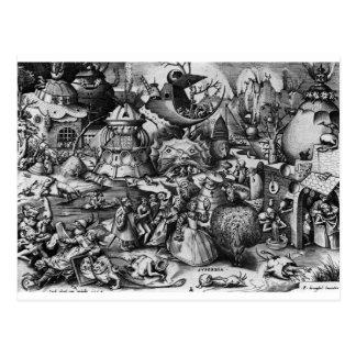 Orgullo de Pieter Bruegel la anciano Postal