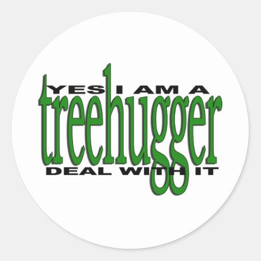 Orgullo de Treehugger Etiquetas Redondas