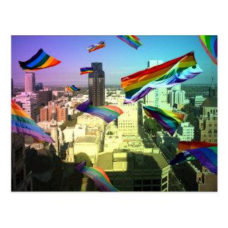 Orgullo del arco iris sobre Sacramento Postal