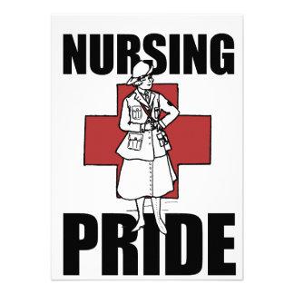Orgullo del oficio de enfermera comunicados personalizados