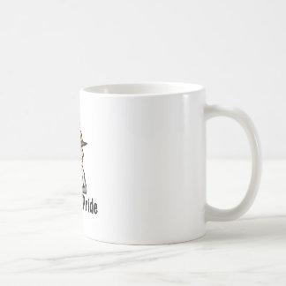 Orgullo del peregrino taza básica blanca
