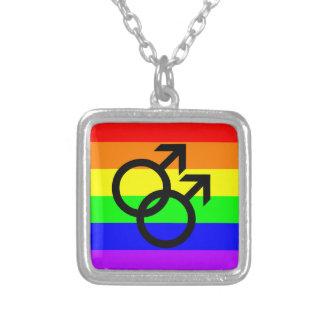Orgullo gay collar plateado