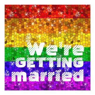 Orgullo gay de la igualdad de la boda de la invitación 13,3 cm x 13,3cm