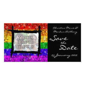 Orgullo gay de la igualdad de la boda de la tarjeta personal con foto