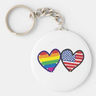 Orgullo gay los E.E.U.U. Llavero Redondo Tipo Chapa