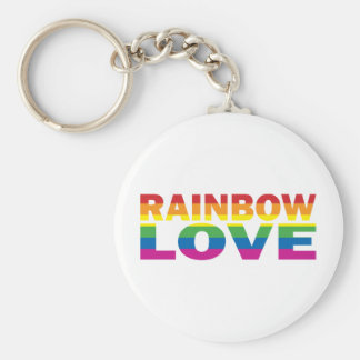 Orgullo gay RAINBOW-LOVE Llavero Redondo Tipo Chapa