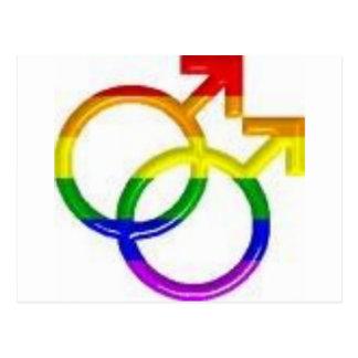 Orgullo gay tarjeta postal