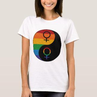 Orgullo lesbiano Yin y Yang Camiseta