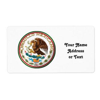 Orgullo Mexicano (Eagle de la bandera mexicana) Etiqueta De Envío