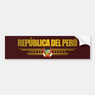 """""""Orgullo peruano """" Pegatina Para Coche"""