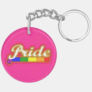 Orgullo que brilla intensamente del orgullo gay llaveros