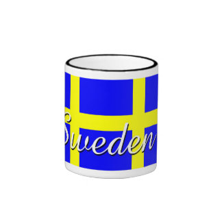 Orgullo sueco taza a dos colores
