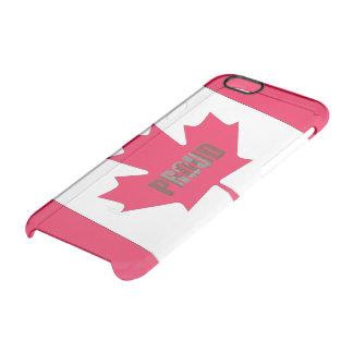 Orgulloso canadiense funda transparente para iPhone 6/6S