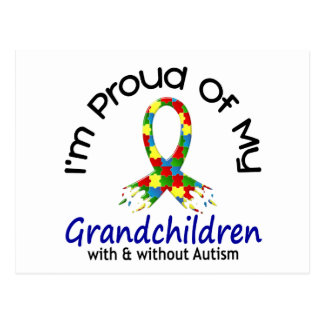 Orgulloso de mis nietos con y sin autismo tarjetas postales