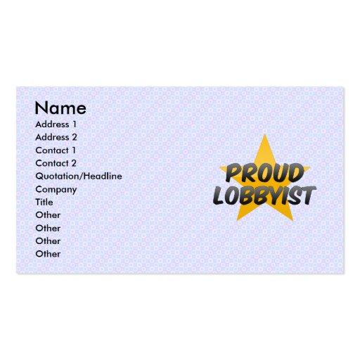 Orgulloso él administrador tarjetas personales