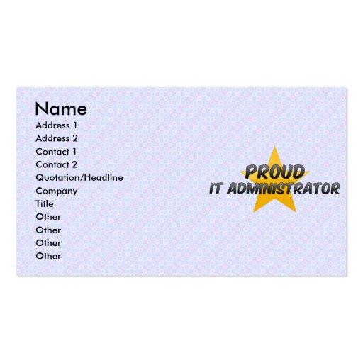 Orgulloso él administrador tarjeta de visita