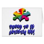Orgulloso ser autístico yo felicitación