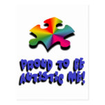 Orgulloso ser autístico yo postales