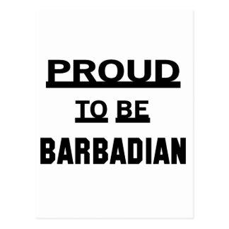 Orgulloso ser barbadense postal