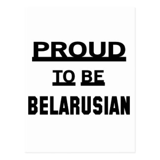 Orgulloso ser bielorruso postal