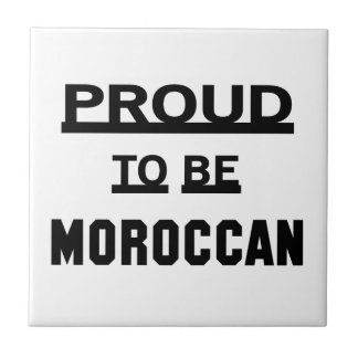 Orgulloso ser marroquí azulejo cuadrado pequeño