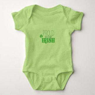 Orgulloso ser ropa irlandesa body para bebé