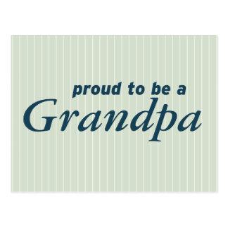 ¡Orgulloso ser un abuelo! Postal