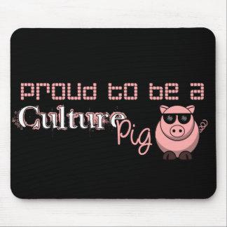 Orgulloso ser un cerdo de la cultura tapetes de raton
