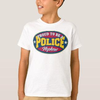 Orgulloso ser un sobrino de la policía camiseta