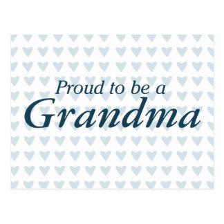 ¡Orgulloso ser una abuela! Postal