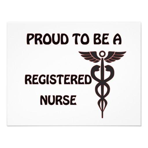 Orgulloso ser una enfermera registradoa invitacion personal