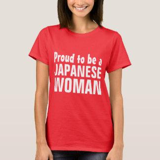 Orgulloso ser una mujer japonesa camiseta