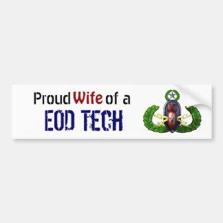 Orgulloso, tecnología del EOD, esposa del EOD Pegatina Para Coche