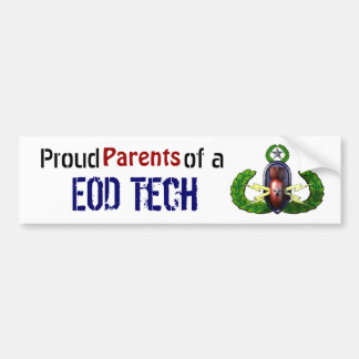 Orgulloso, tecnología del EOD, padres Pegatina Para Coche