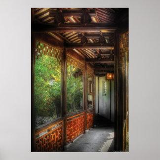 Oriental - continúe encendido póster