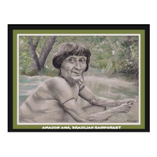 Orig de la postal w. arte, anciano de la selva