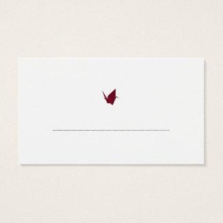Origami Cranes tarjetas del acompañamiento de la