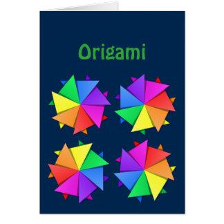 origami del arco iris tarjeta de felicitación