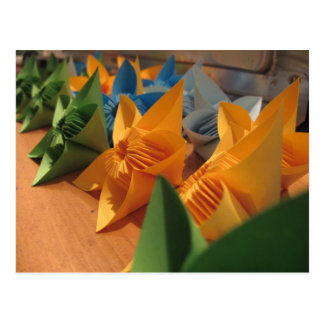 Origami florece estilo del kusudama postal