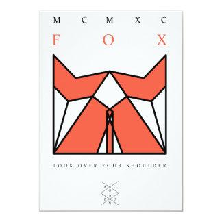 origami fox invitación 12,7 x 17,8 cm
