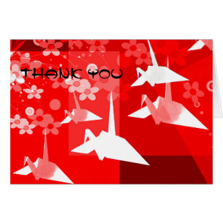 Origami le agradece cardar tarjeta de felicitación
