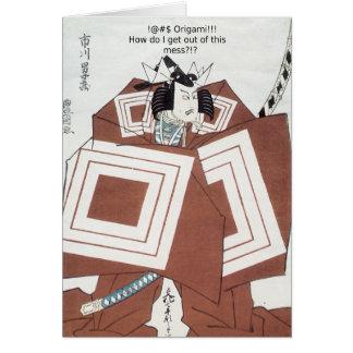 ¡! ¡@#$ Origami!!! Tarjeta De Felicitación
