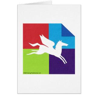 Origami/tarjeta de Pegaso Tarjeta Pequeña